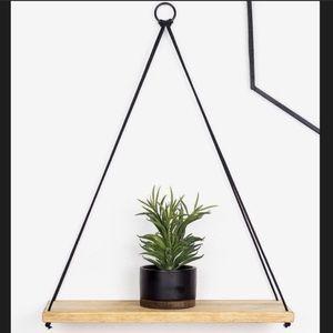 Wall hanging wooden shelf